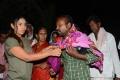 Sri Reddy distributes blankets for orphans at Sai Baba temple, Punjagutta
