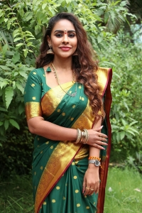 Actress Sri Reddy Photos in Silk Saree