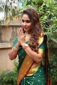 Actress Sri Reddy Silk Saree Photos