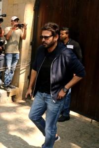 Venkatesh @ Sridevi Death Celebs visit Anil Kapoor House Stills
