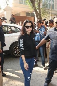Ameesha Patel @ Sridevi Death Celebs visit Anil Kapoor House Stills