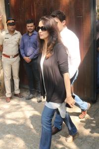 Madhuri Dixit @ Sridevi Death Celebs visit Anil Kapoor House Stills