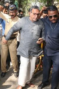Nassar @ Sridevi Death Celebs visit Anil Kapoor House Stills