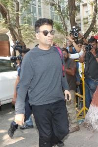 Karan Johar @ Sridevi Death Celebs visit Anil Kapoor House Stills