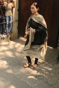 Actress Tabu @ Sridevi Death Celebs visit Anil Kapoor House Stills
