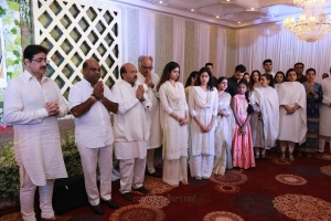 Boney Kapoor, Jhanvi Kapoor @ Padmashri Sridevi Kapoor Prayer Meeting Stills