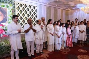 Boney Kapoor, Jhanvi Kapoor @ Sridevi Prayer Meeting Stills