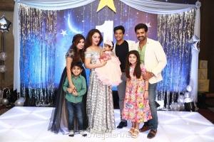Aarthi Mohan, Arun Vijay @ Sridevi Vijayakumar Daughter Rupikaa 1st Year Birthday Celebration Photos