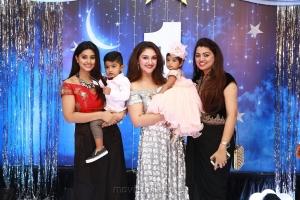 Actress Sneha @ Sridevi Vijayakumar Daughter Rupikaa 1st Year Birthday Celebration Photos