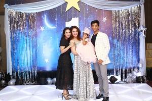 Aishwarya R. Dhanush @ Sridevi Vijayakumar Daughter Rupikaa 1st Year Birthday Celebration Photos