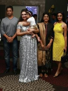 Arjun, Asha Rani, Aishwarya @ Sridevi Vijayakumar Daughter Rupikaa 1st Year Birthday Celebration Photos