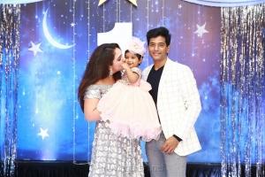 Sridevi Vijayakumar Rahul Daughter Rupikaa 1st Year Birthday Celebration Photos