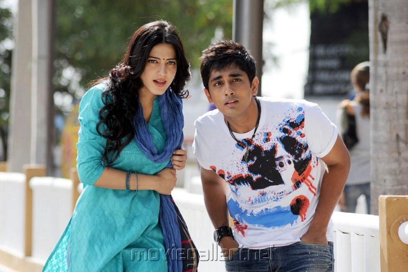 Siddharth, Shruti in Sridhar Tamil Movie Stills
