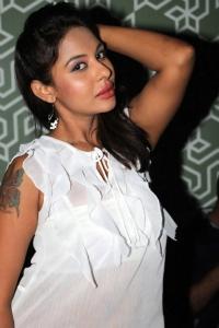 Actress Srilekha Hot Stills in White Dress