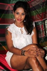 Telugu Actress Srilekha Hot Stills in White Dress