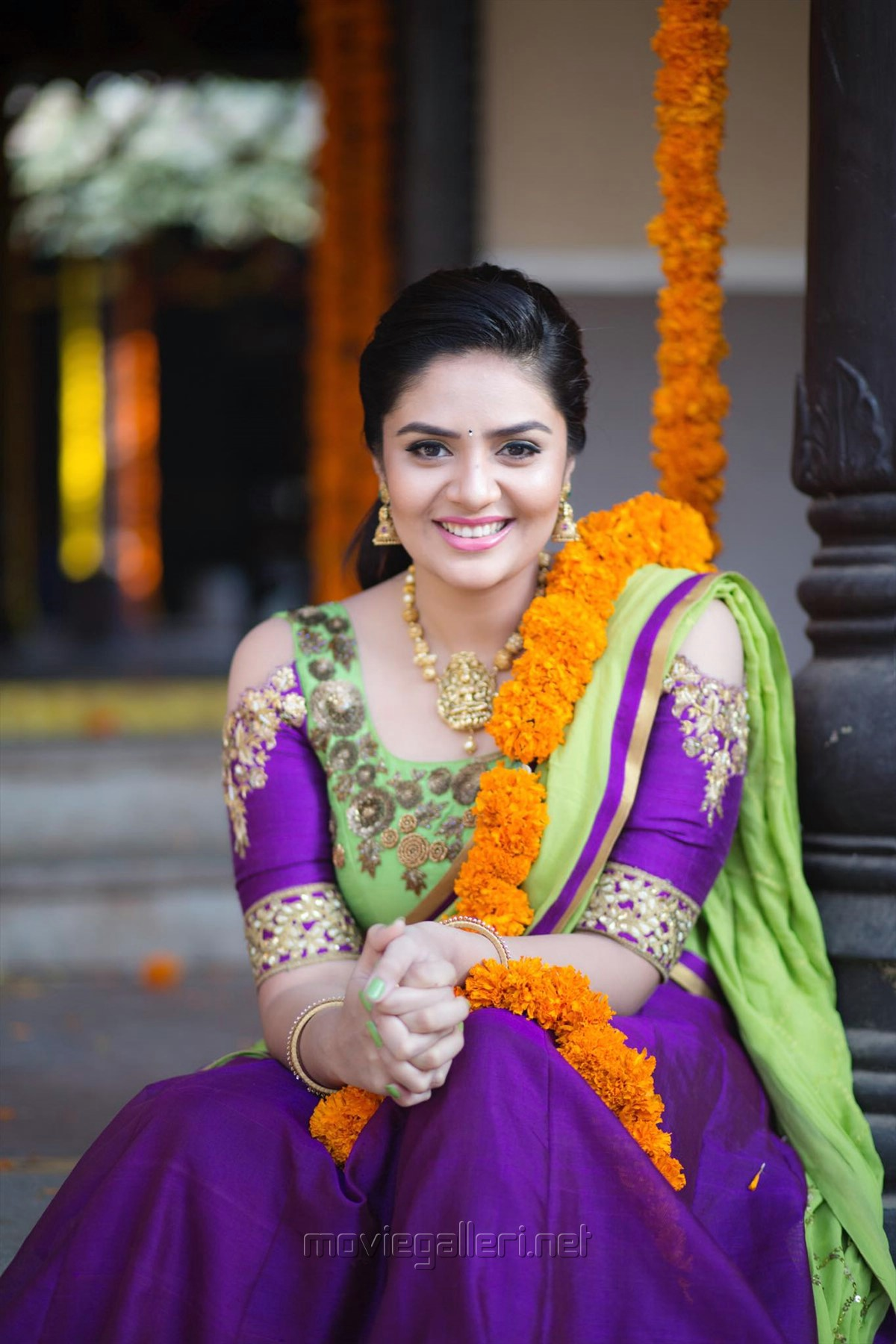 Actress Sreemukhi Saree Photoshoot Images