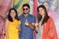 Nandita Swetha, Nithin, Raashi Khanna @ Srinivasa Kalyanam Vijayawada Press Meet Photos