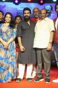MM Srilekha, Ram Charan, KV Vijayendra Prasad @ Srivalli Pre Release Function Stills