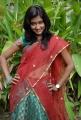 New Telugu Heroine Srividya Hot in Half Saree Stills
