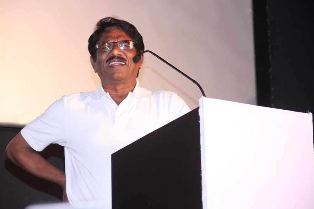 Director Bharathiraja @ Karthik Subbaraj's Stone Bench Creations Official Launch Stills