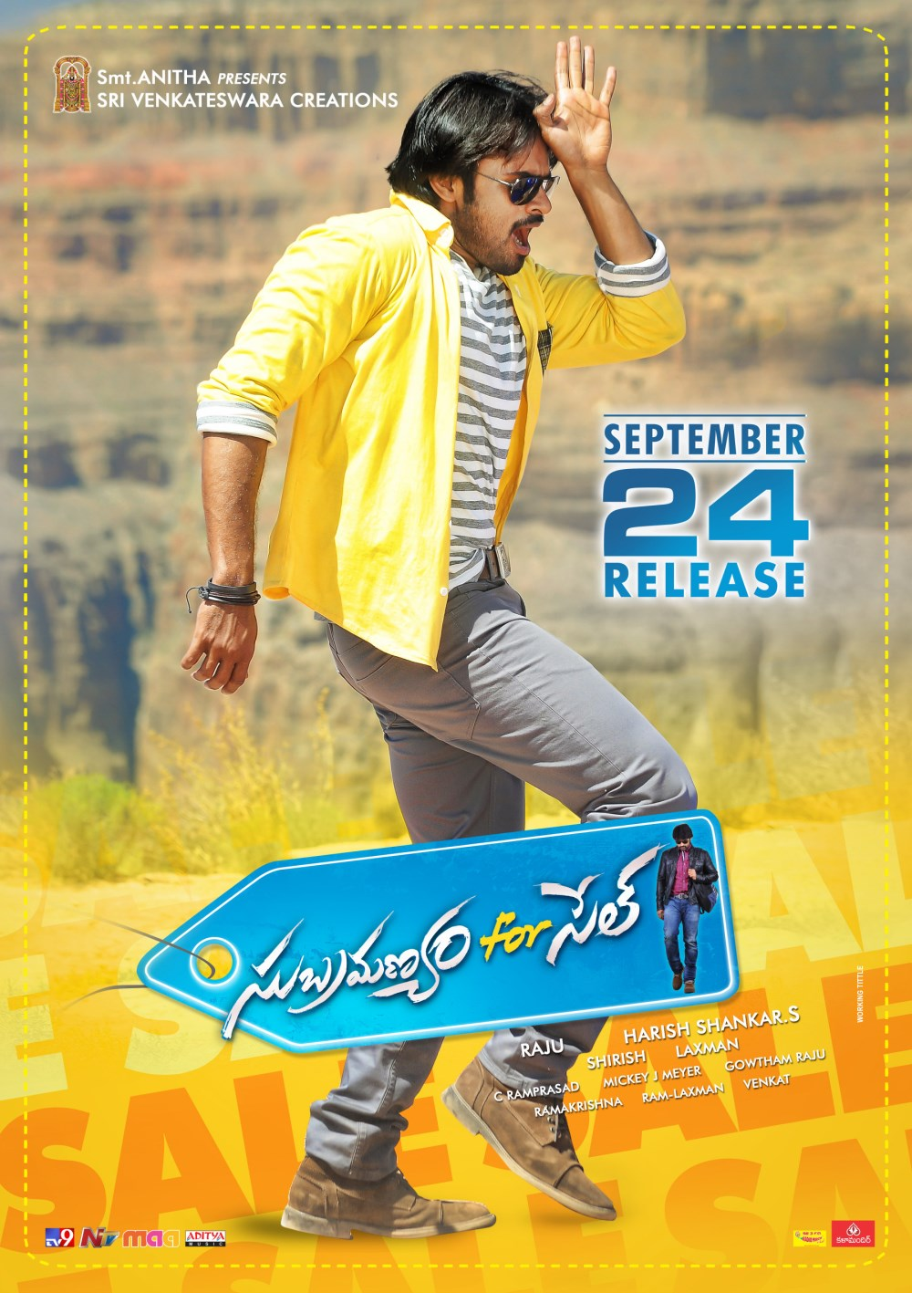 Hero Sai Dharam Tej in Subramanyam For Sale Movie Release Posters