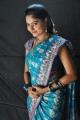 Actress Suhasini in Blue Saree Images @ Rough Shooting Spot