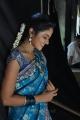 Telugu Actress Suhasini Blue Saree Images @ Rough Movie Location