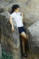 Suja Varunee Hot Photoshoot Pics in White Dress