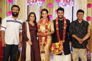 Shanthanu, Keerthi, K Bhagyaraj @ Shivakumar Suja Varunee Wedding Reception Stills HD