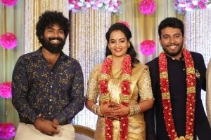 Daniel Annie Pope @ Shivakumar Suja Varunee Wedding Reception Stills HD