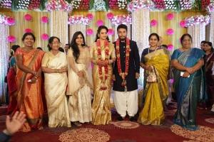 Lovelyn, Viji Chandrasekhar @ Shivakumar Suja Varunee Wedding Reception Stills HD