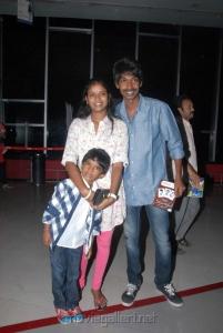Actor Dhanaraj with Wife at Sukumarudu Premiere Show Photos