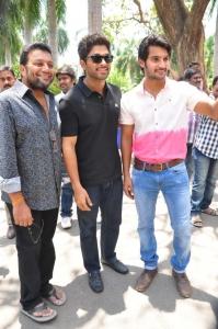 Aadi, Allu Arjun at Sukumarudu Triple Platinum Disc Function Photos