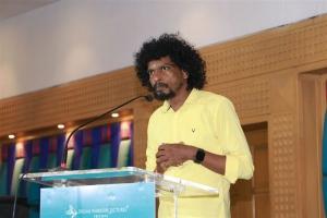 Actor Sendrayan @ Sulthan Movie Thanks Meet Stills
