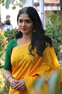 Kaali Movie Actress Sunaina in Yellow Saree Photos HD