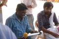 Director Prabhakaran, Sasikumar at Sundarapandian On Location Stills