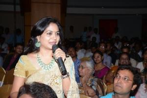 Singer Sunitha in Saree Cute Photos