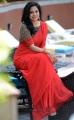 Singer Sunitha Upadrashta in Red Saree Images