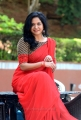 Singer Sunitha in Red Saree Images