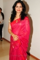 Singer Sunitha in Pink Red Silk Saree Stills
