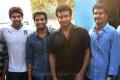 Arya, Santhanam, Suriya, R.Kannan at Settai Movie Shooting Spot Stills