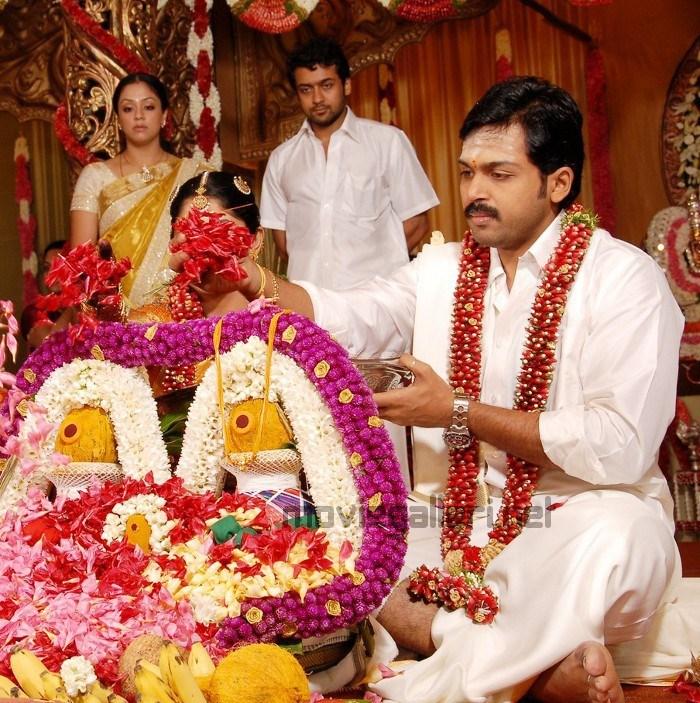 Picture 33606 | Surya and Jyothika @ Karthi Wedding Photos ...