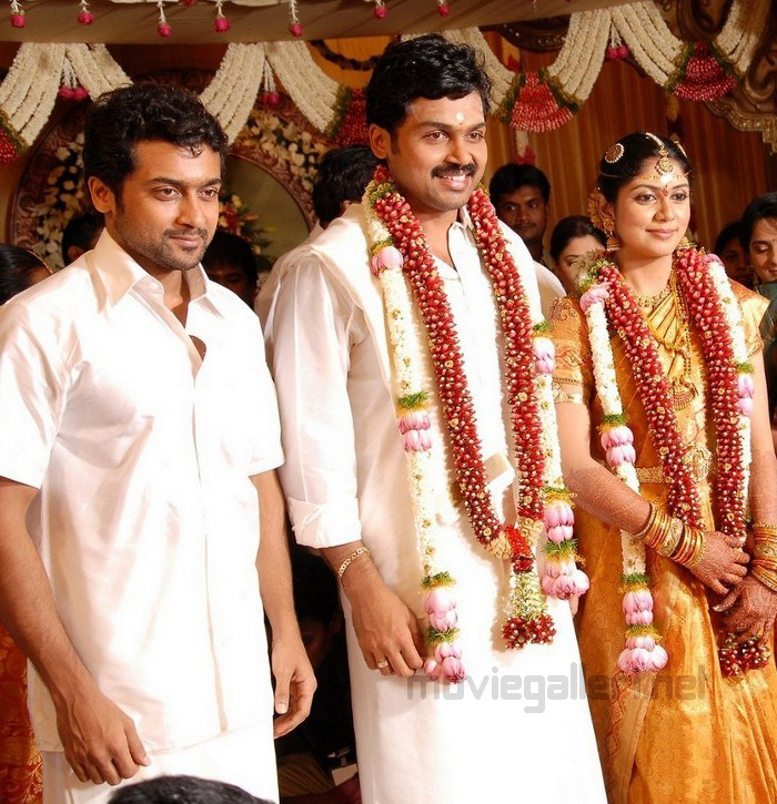 Picture 33608 | Surya and Jyothika @ Karthi Wedding Photos ...