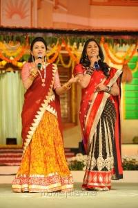 Suma, Jhansi at SVSC Movie Audio Release Function Photos