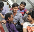 Actor Mahesh Babu at SVSC Movie Shooting Spot Stills