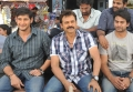 Mahesh Babu, Venkatesh at SVSC Shooting Spot Stills