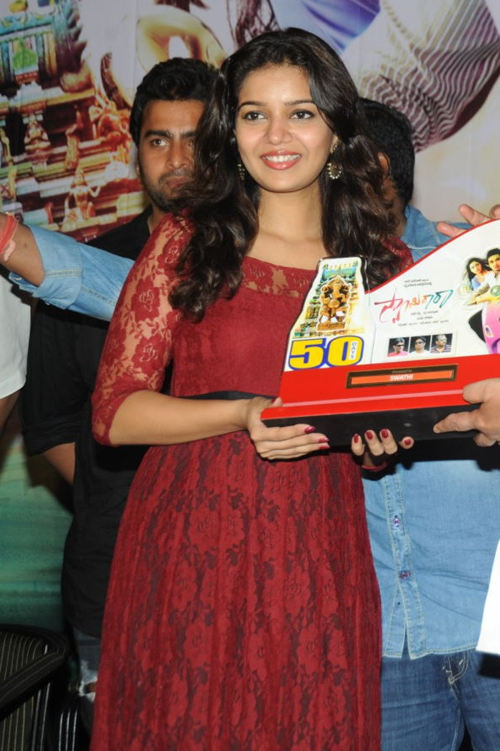 Colors Swathi Beautiful Pics at Swamy Ra Ra 50 Days Function