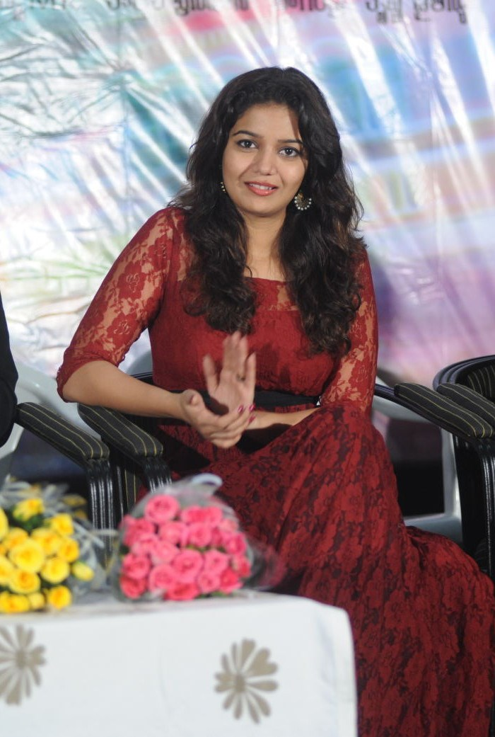 Colours Swathi Cute Pics at Swamy Ra Ra 50 Days Function