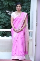 Swathi Reddy in Pink Saree Photos at Tripura Interview