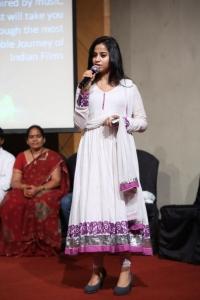 Actress Swathi Deekshith New Stills @ Black is Black Event Hyderabad